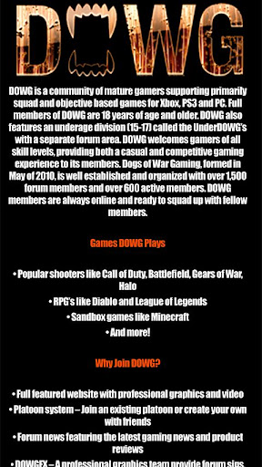 DOWG.net Dogs of War Gaming Cl