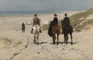 RIJKS: Anton Mauve: Morning Ride along the Beach 1876