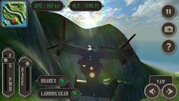 Screenshot of V22 Osprey Flight Simulator