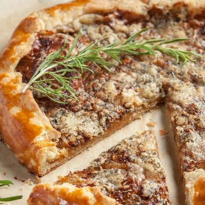 Caramelized Onion and Bayley Hazen Blue Galette from 'The Vermont Farm Table Cookbook'
