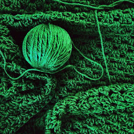 by Melinda Szente - Instagram & Mobile iPhone ( craft, ball, crafty, green, crochet, texture, hobby, handmade, iphonesia, ball of yarn, iphone, crafts, iphoneography )