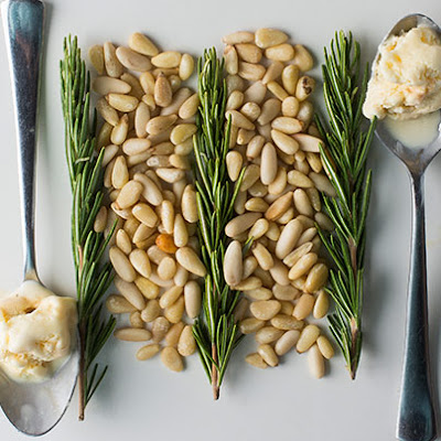 Rosemary Pine Nut Brittle Ice Cream