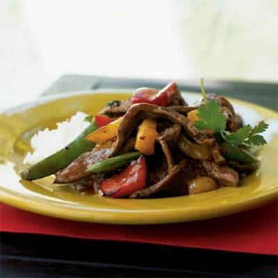 Three-Pepper Beef