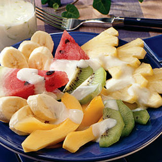 Fresh Fruit with Honey-Lime Sauce