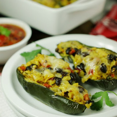 Southwestern Stuffed Poblano Peppers