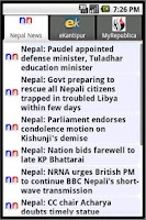 Screenshot of Nepali News App