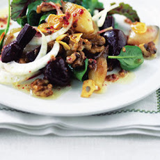 Warm Spinach, Shallot And Baby Beetroot Salad Recipe