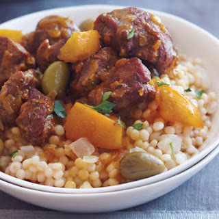 Lamb Tagine with Olives, Preserved Lemon and Couscous