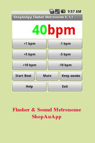 Flasher Sound Metronome awak