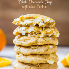 Orange Creamsicle White Chocolate Chip Softbatch Cookies