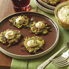 Kosher Revolution's Middle-Eastern Zucchini Cakes with Tahini Sauce