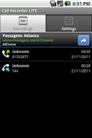 Screenshot of Call Recorder LITE