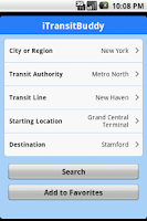 Screenshot of iTransitBuddy Metro North Lite