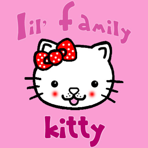 Lil' Family - KITTY Pink LOGO-APP點子