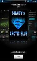 Screenshot of Shady Arctic Blue Theme CM7