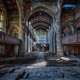 City Methodist Pulpit View by Ron Meyers - Buildings & Architecture Places of Worship ( gary indiana )