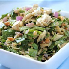 Spinach Feta and Orzo Salad