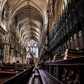 Lincoln, UK  by Lauren Carroll - Buildings & Architecture Places of Worship ( detail, church, architecture, bible, worship,  )