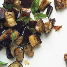 Roasted Eggplant with Basil