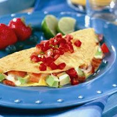 Bacon, Avocado and Cheese Omelet