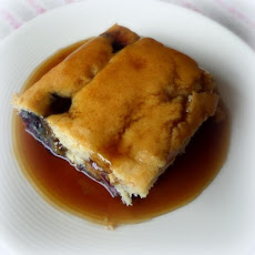 Blueberry Cake with a Brown Sugar Sauce