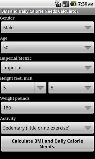 Weight Calories