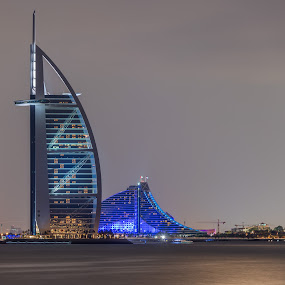 Hotel by Walid Ahmad - Buildings & Architecture Office Buildings & Hotels ( photos, burjalarab, dubai, d800, night, hotel, nikon, photography )