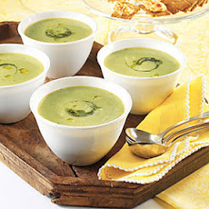 Chilled Pesto-Pea Soup
