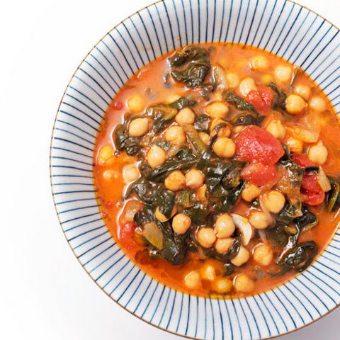 Garbanzos con Espinacas y Jengibre (Spanish Chickpea and Spinach Stew ...