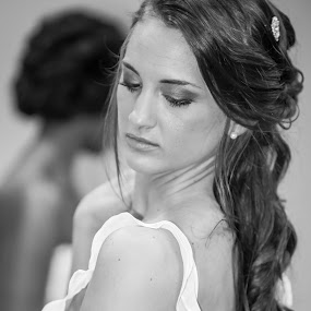Awaiting bride by Nicola Ibba - Wedding Bride ( wedding, white, bride, black )