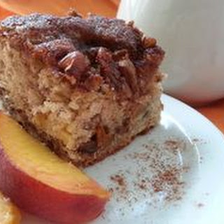 Banana & Peach Coffee Cake