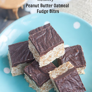 Peanut Butter Oatmeal Fudge Bites