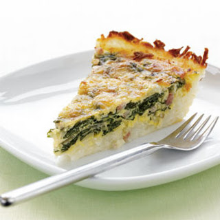 Potato-Crusted Spinach Quiche