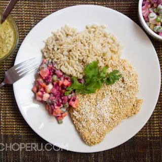 Amaranth Coated Chicken Milanesa