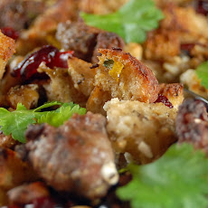 Lamb Sausage, Feta and Mint Stuffing