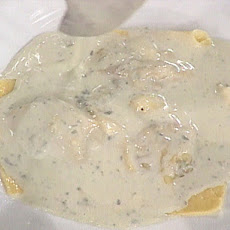 Lamb Stuffed Ravioli with a Gorgonzola Cream Sauce