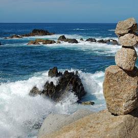 Cabo san Lucas Cairn by Mark Beardsley - Novices Only Landscapes ( mexico, cairn, travel, seascape, landscape )