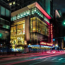 Motion by Jim Bosch - City,  Street & Park  Street Scenes ( boston, street, tremont st, cityscape, loews theater )