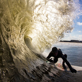 DT golden barrel by Dave Nilsen - Sports & Fitness Surfing