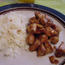 Stove Top Bourbon Chicken