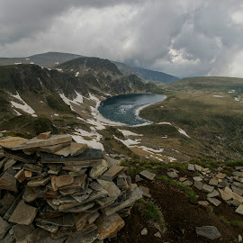 Rila ,Kidney lake,2282 m above sea level by Yordan Mihov - Landscapes Mountains & Hills ( mountains, seven, june, rila, lakes, landscape, bulgaria, sightseeing )