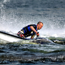 jetski by Kathleen Devai - Sports & Fitness Watersports ( lake water jet man )