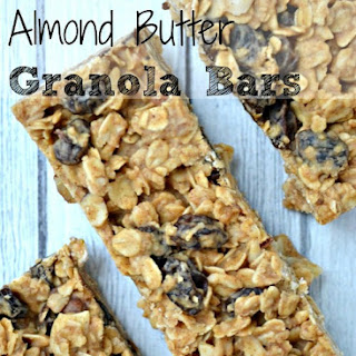 No Bake Almond Butter Granola Bars