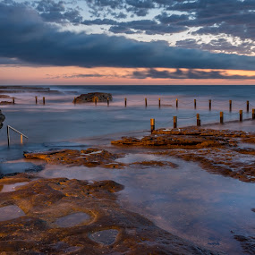 Mahon Pool, Maroubra by Mandy Harvey - Landscapes Sunsets & Sunrises ( december, maroubra, mahon pool, 2013, australia, sea, sunrise, landscape, coast )