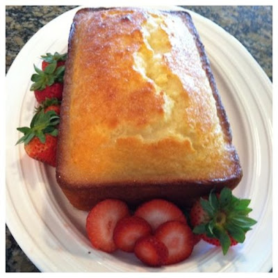 Lemon Yogurt Cake with Raspberry Puree
