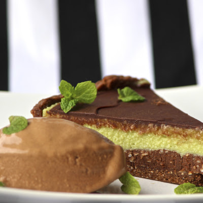 Raw Chocolate Mint Slice