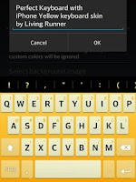 Screenshot of iPhone Yellow Keyboard Skin