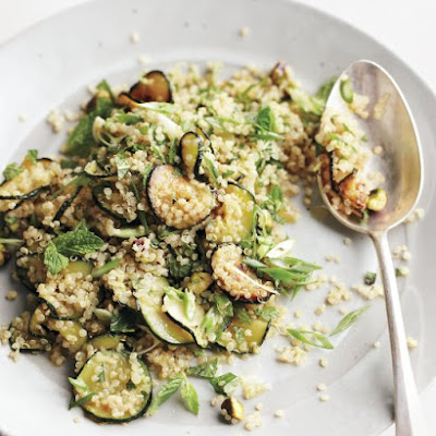 Quinoa Salad with Zucchini, Mint, and Pistachios
