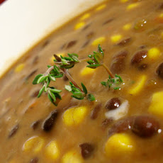 Coconut, Corn and Black Bean Soup