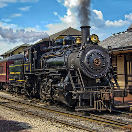 Return to yesterday by Jack Turkel - Transportation Trains ( locomotive, steam_engine, antique )